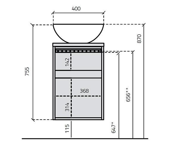 Technical drawing QS-V15911 / 584V-2T