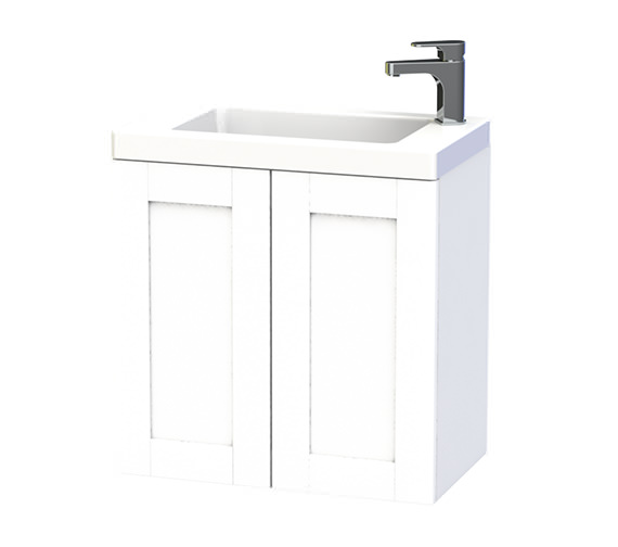 Miller London 60 Double Door White Wall Hung Basin Vanity Unit