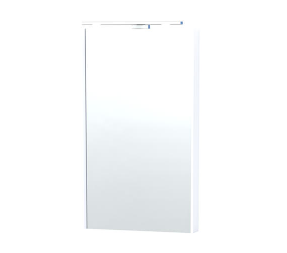 Miller London 40 White Framed Mirror - 59-2