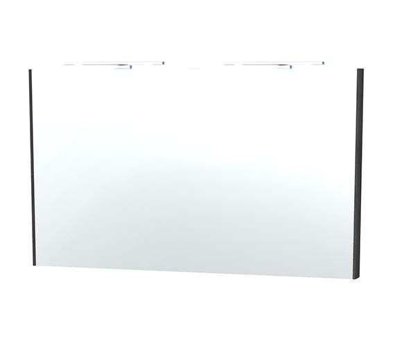 Miller London 120 Black Framed Mirror - 63-4
