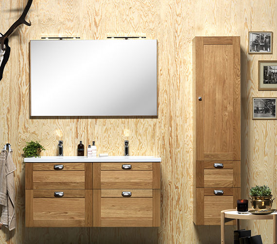 Additional image of Miller London 120 Oak Framed Mirror - 63-5
