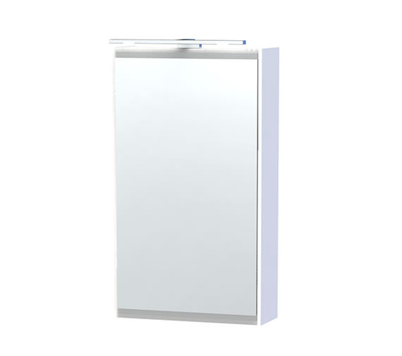 Miller London 40 White Single Door Mirror Cabinet 404 x 700mm