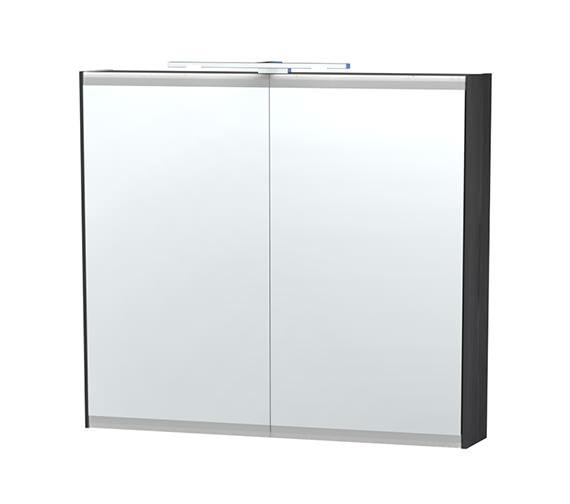 Miller London 80 Black Double Door Mirror Cabinet 790 x 700mm