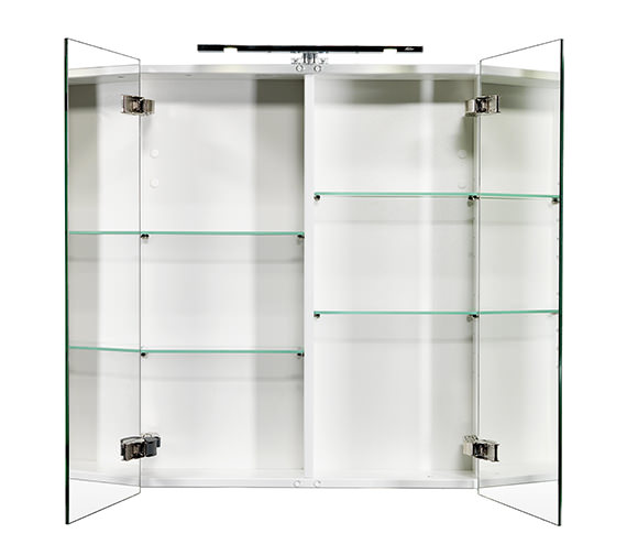 Alternate image of Miller London 60 White Double Door Mirror Cabinet 590 x 700mm