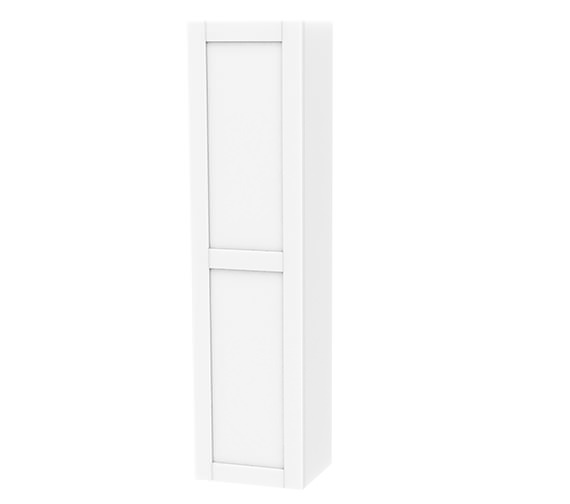 Miller London White Single Door Tall Cabinet 400 x 1690mm - 593V-2