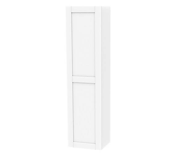 Miller London 400 x 1690mm Left Hand White Single Storage Door Tall Cabinet