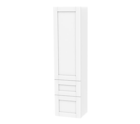 Miller London White 1 Door And 2 Drawer Tall Cabinet 400 x 1690mm