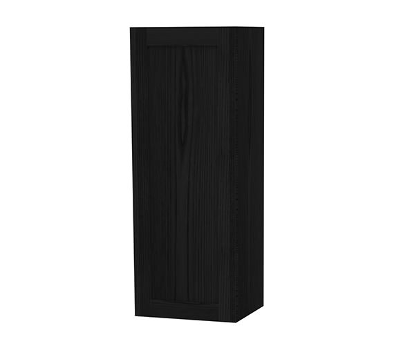 Miller London Black Cabinet With Single Storage Door 400 x 1111mm