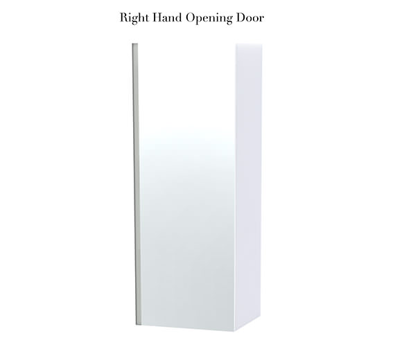 Additional image of Miller London White Single Door Mirror Cabinet 400 x 1111mm