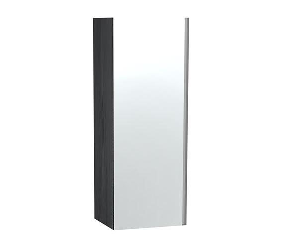 Miller London Black Single Door Mirror Cabinet 400 x 1111mm