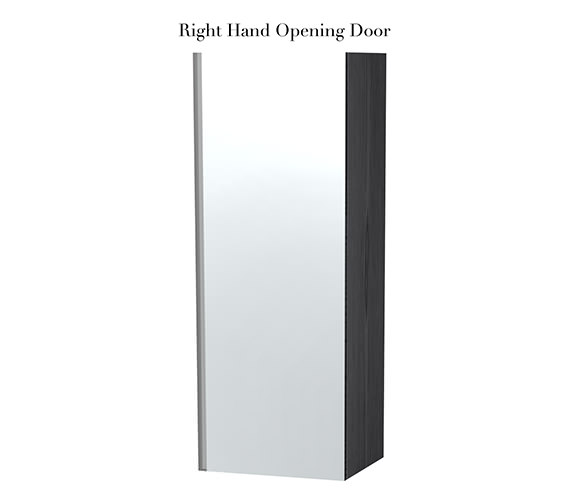 Additional image of Miller London Black Single Door Mirror Cabinet 400 x 1111mm