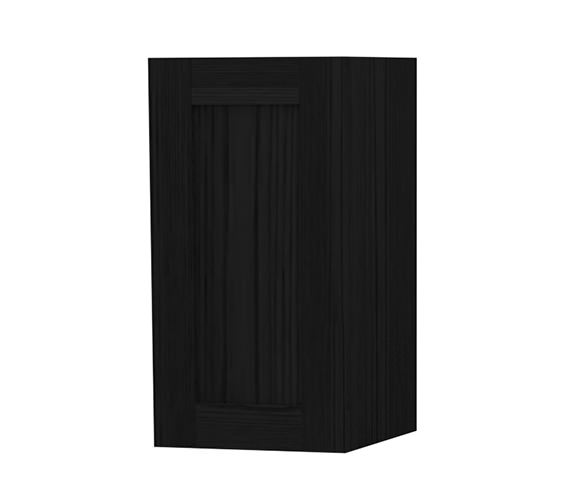 Miller London Black Single Door Storage Cabinet 275 x 590mm