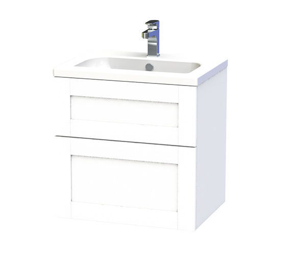 Miller London 60 Two Drawer White Wall Hung Vanity Unit