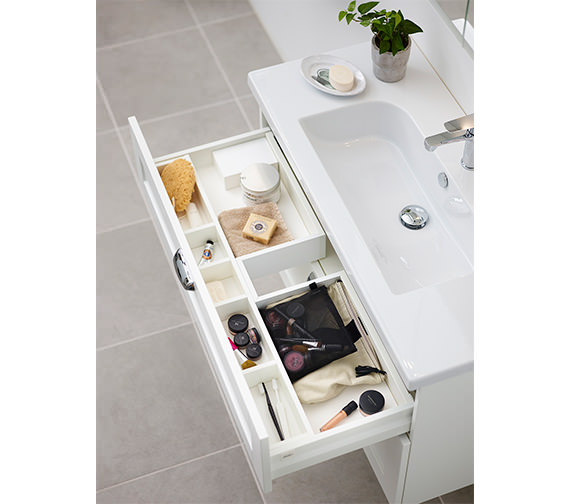 Alternate image of Miller London 60 Two Drawer White Wall Hung Vanity Unit