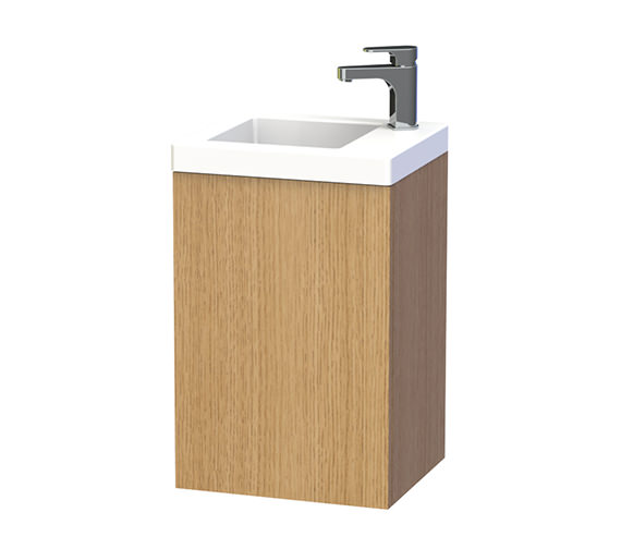 Miller New York 40 Oak Wall Hung Basin Vanity Unit With Door