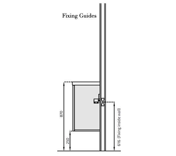 Alternate image of Miller New York 60 Double Door White Wall Hung Basin Vanity Unit