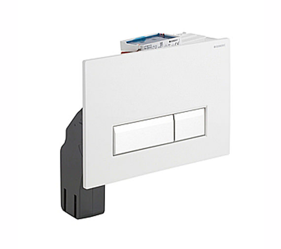 Geberit Sigma40 White Dual Flush Plate With Integrated Odour Extraction