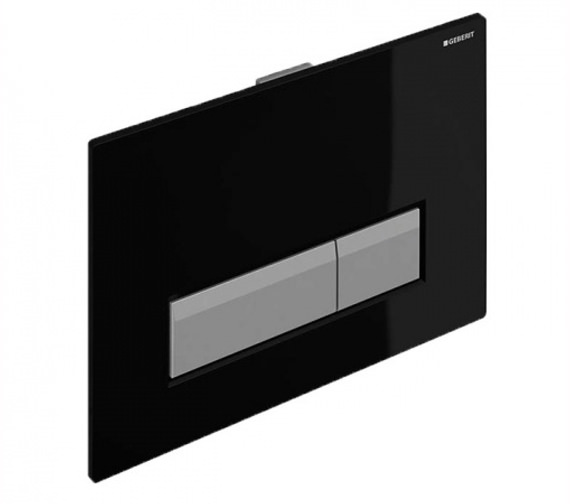 Geberit Sigma40 Black Dual Flush Plate With Integrated Odour Extraction