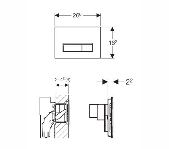 Technical drawing QS-V16023 / 115.600.SI.1
