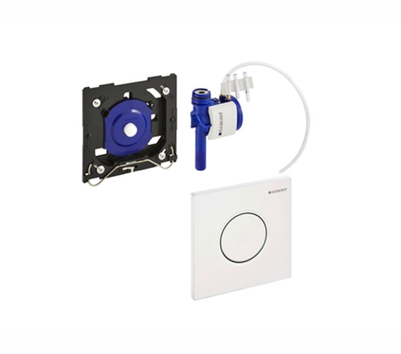 Geberit Sigma01 Pneumatic Operated Urinal Flush Control Matt Chrome