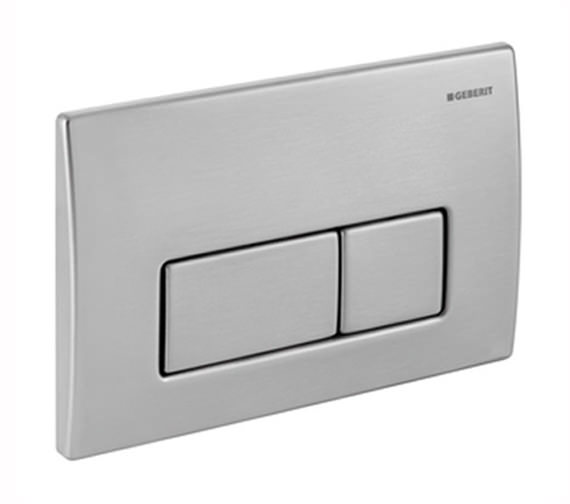 Geberit Kappa50 Stainless Steel Dual Flush Plate - 115.258.00.1
