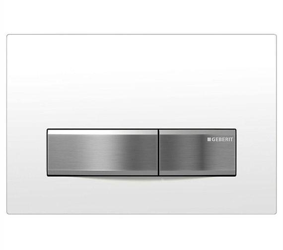 Geberit Sigma50 White Alpine Dual Flush Plate - 115.788.11.5