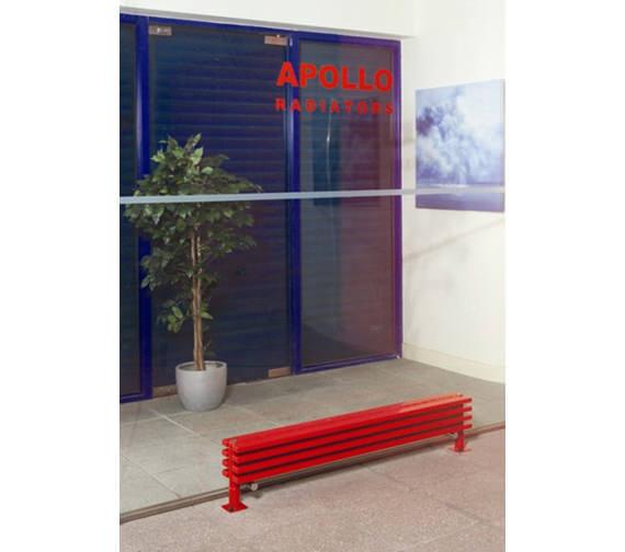 Apollo Bassano 255mm Height White Low Level Floor Standing Radiator