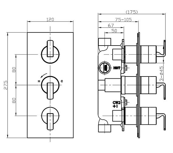 Technical drawing QS-V16124 / KH01_2000RC