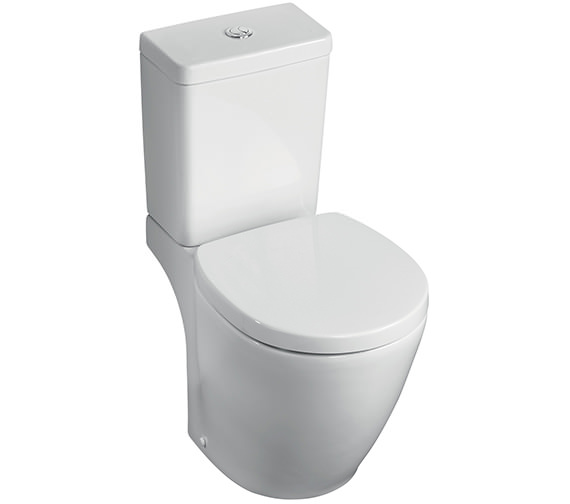 Ideal Standard Concept Space Cube Compact Close Coupled WC Pan 605mm
