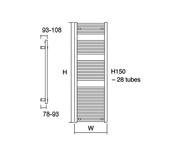 Technical drawing QS-V17002 / Metro 60/150