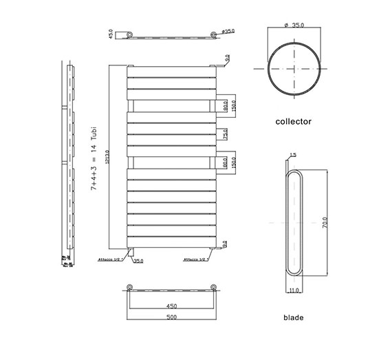 Technical drawing QS-V17264 / HLW35