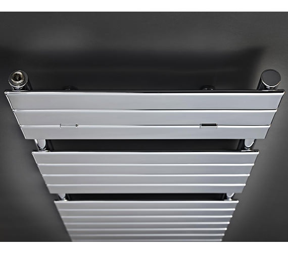 Additional image of Hudson Reed Flat Panel 500 x 1213mm Heated Towel Rail White