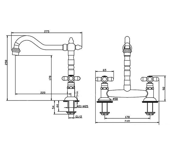 Technical drawing QS-V17293 / KIT205