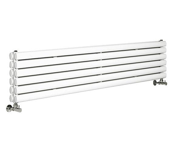 Hudson Reed Revive 1500 x 354mm White Double Panel Horizontal Radiator