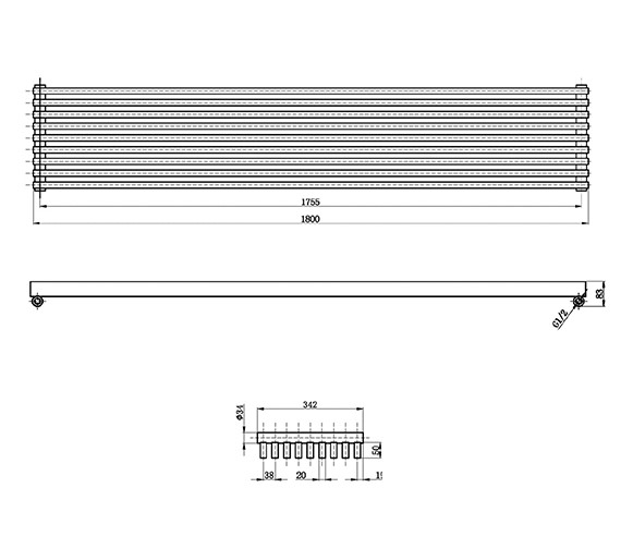 Technical drawing QS-V17309 / HLW90