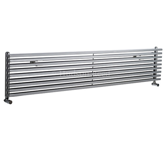 Hudson Reed Parallel 1800x342mm Silver Horizontal Radiator
