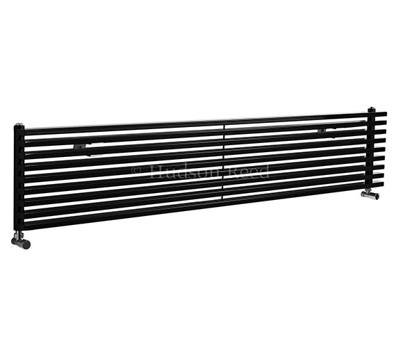 Hudson Reed Parallel 1800x342mm Black Horizontal Radiator