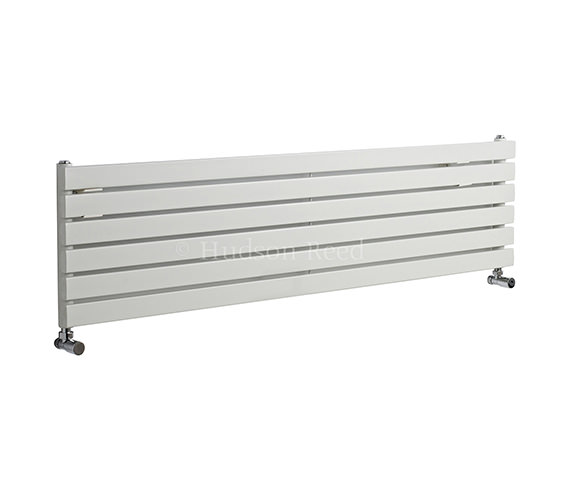 Hudson Reed Sloane Single Panel Horizontal White Radiator 1500x354mm