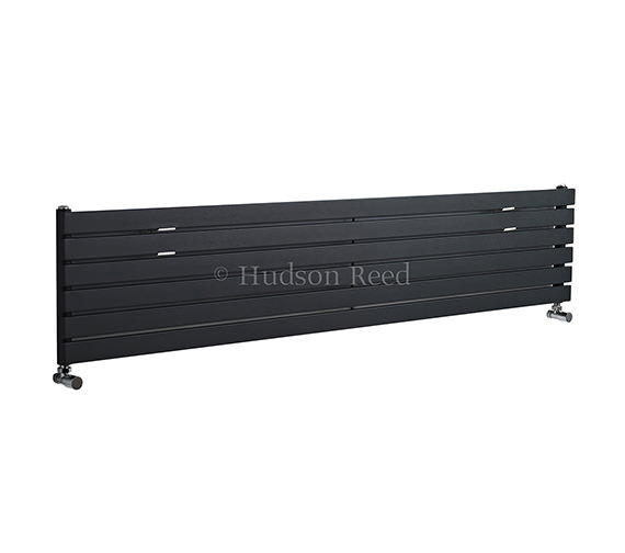 Hudson Reed Sloane Single Panel Horizontal Anthracite Radiator 1800x354mm