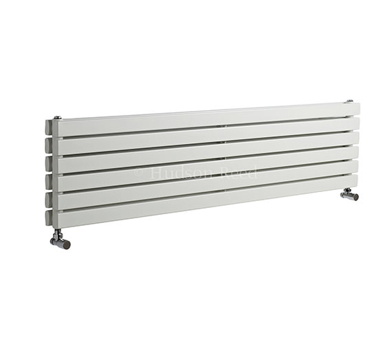 Hudson Reed Sloane Double Panel Horizontal White Radiator 1800x354mm
