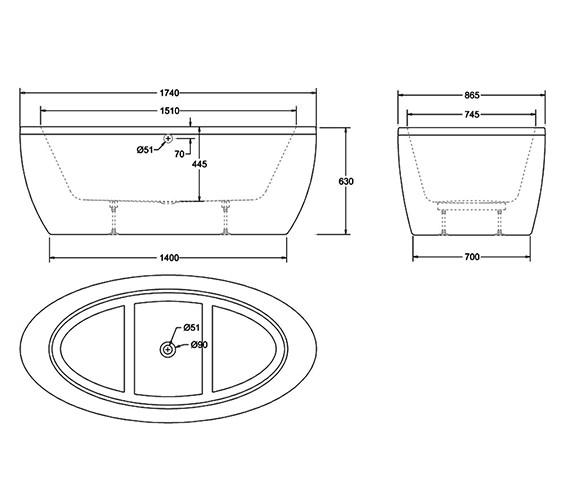 Technical drawing QS-V17534 / R31