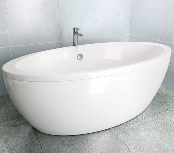 Additional image of Britton Cleargreen Freefuerte 1740 x 865mm Bath With Surround