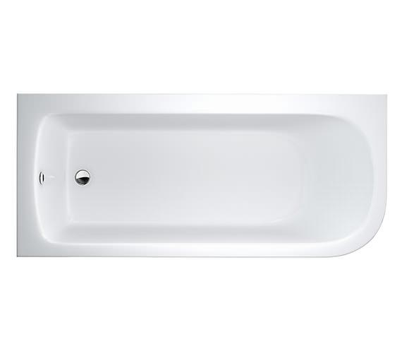 Britton Cleargreen Viride 1700 x 750mm Left Hand Offset Bath