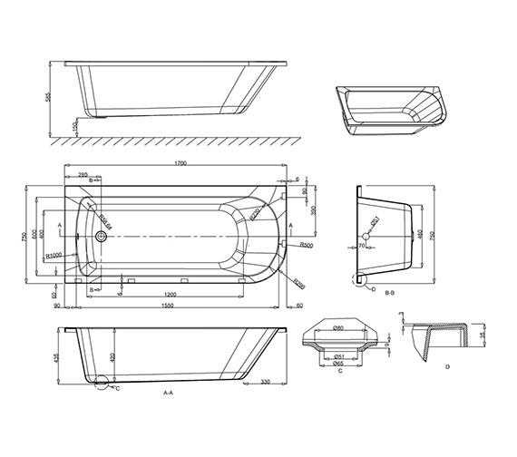 Technical drawing QS-V17535 / R38