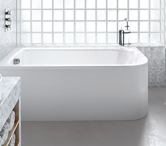 Additional image of Britton Cleargreen Viride 1700 x 750mm Left Hand Offset Bath