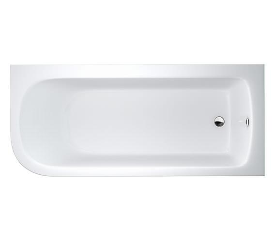 Britton Cleargreen Viride 1700 x 750mm Offset Bath