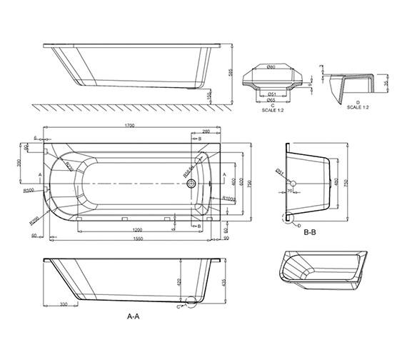 Technical drawing QS-V17536 / R39