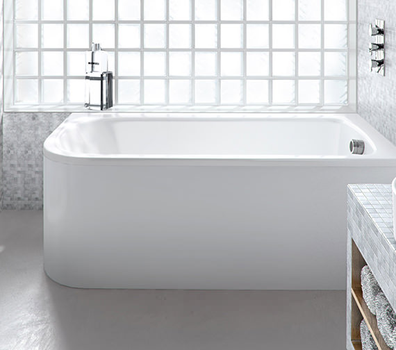 Britton Cleargreen Viride 1700 x 750mm Right Hand Offset Bath