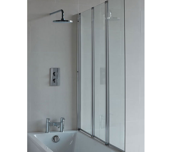 Britton Cleargreen 1185 x 1450mm Three Folding Panel Bathscreen