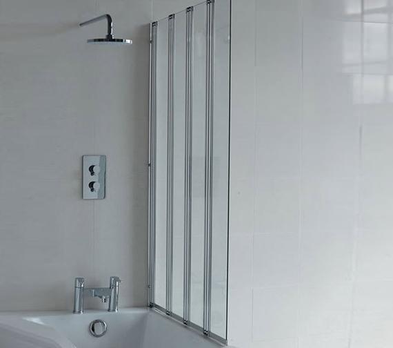 Britton Cleargreen Four Folding Panel Bathscreen 885 x 1450mm